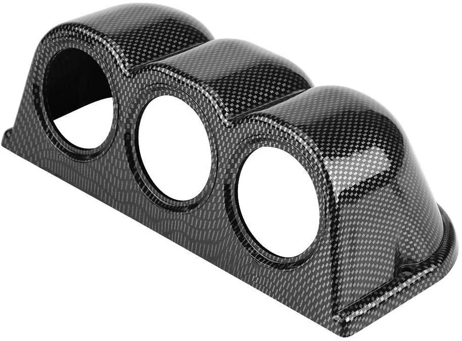Hlyjoon Car Universal 52mm Triple 3 Hole Mount Holder Dash Gauge Pillar Pod Cluster Automotive Dashboard Gauge Meter Cup Instrument Bracket Tools
