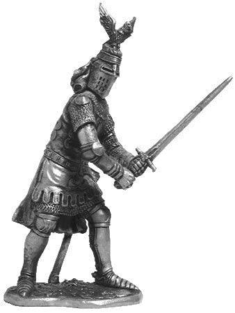 Sir Oliver d'Ingram (England) Tin Soldiers Metal Sculpture Miniature Figure Collection 54mm (Scale 1/32) (M78)