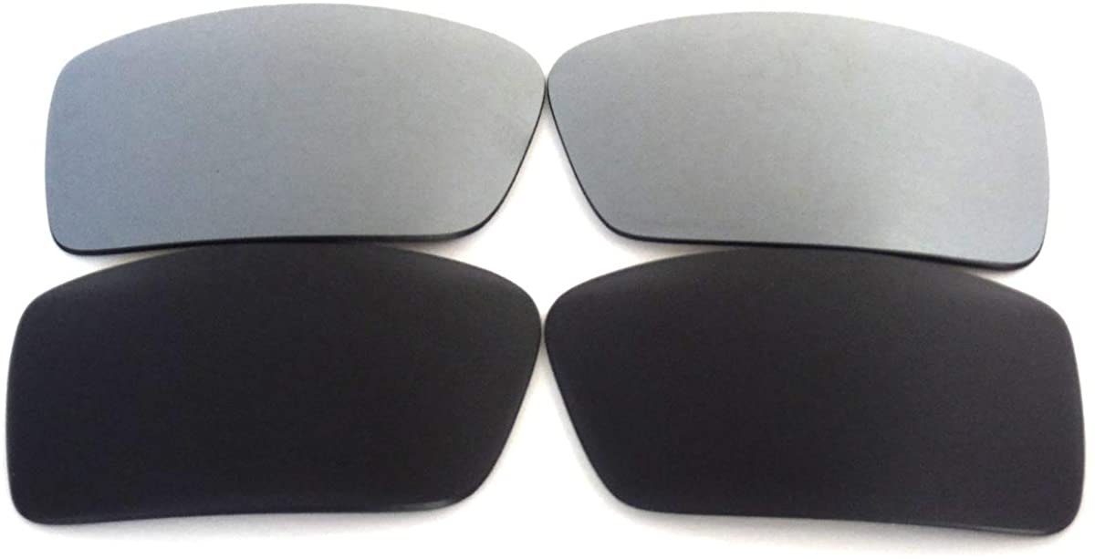 Galaxylense Replacement Lenses for Oakley Fuel Cell Black&Titanium Color Polarized,FREE S&H. 2 Pairs