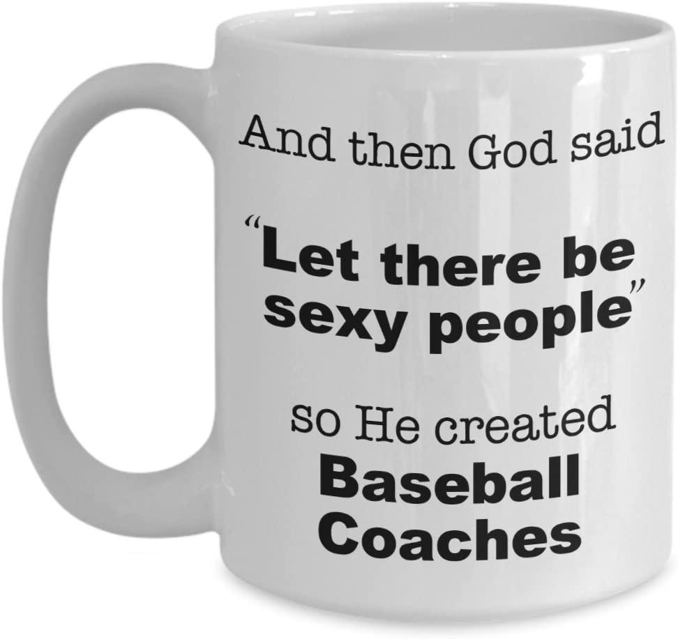 Coach Baseball Mug, Funny Coffee Cup Gift for Baseball Coach