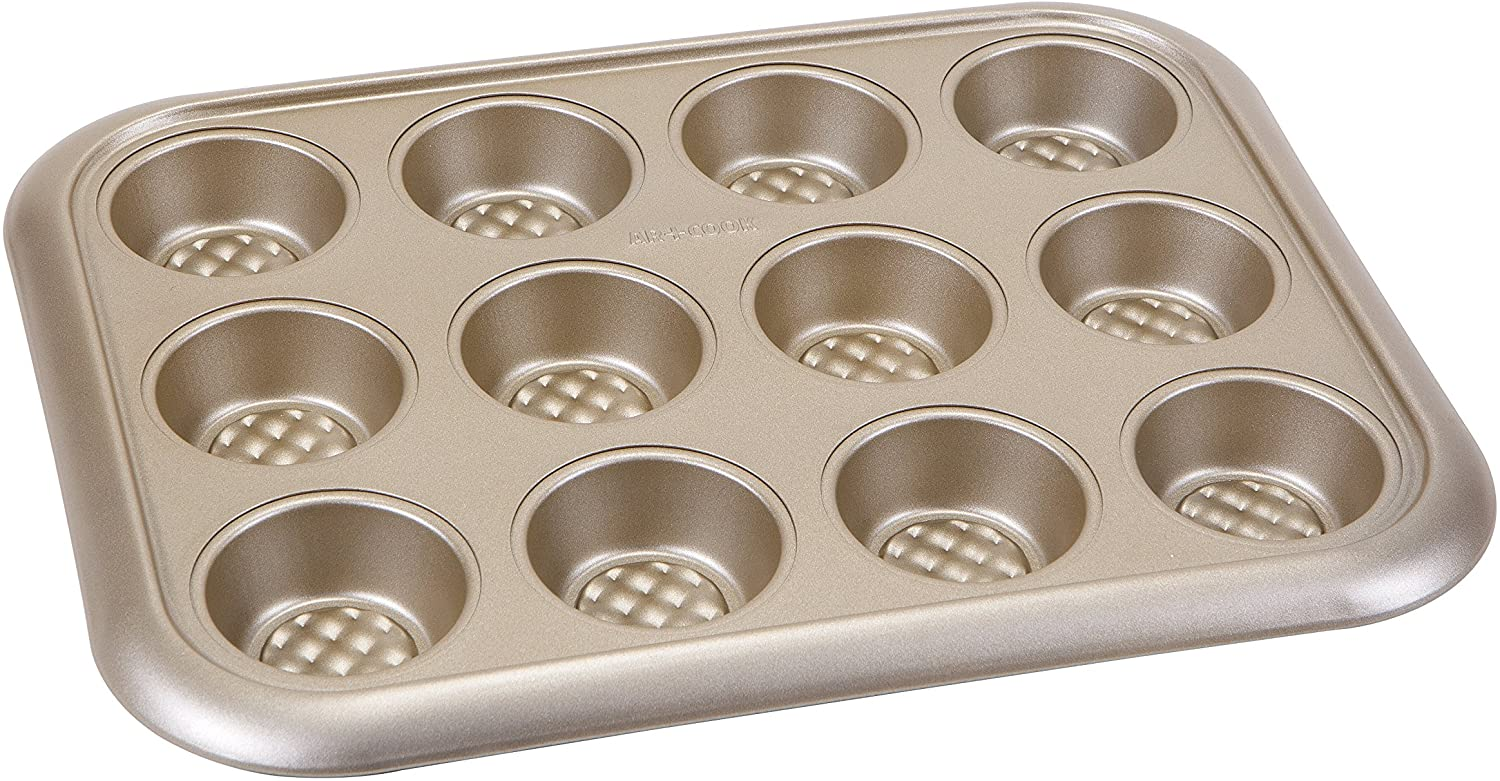 Art and Cook 12 Cup Non-Stick Muffin Pan, Champagne