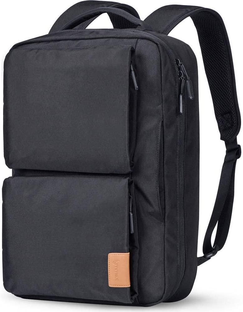 Laptop Backpack 15.6 inch, Hidden Handle & Shoulder Strap Design Slim Convertible Bookbag, College Backpack Waterproof Daypack for Work Business School Travel
