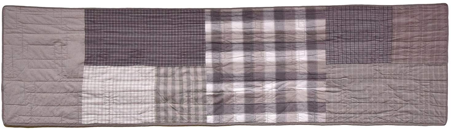 Donna Sharp Valance - Smoky Square Contemporary Decorative Window Treatment with Patchwork Pattern