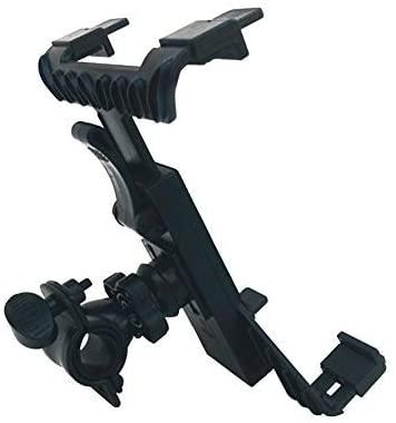 QOONESTL 7-10inch Moutik Bike Tablet Stand Holder Adjustable, Bike Tablet Holder, Bicycle Car Phone Tablet Mount for Indoor Gym Treadmill, Spinning, Exercise Bike for iPad