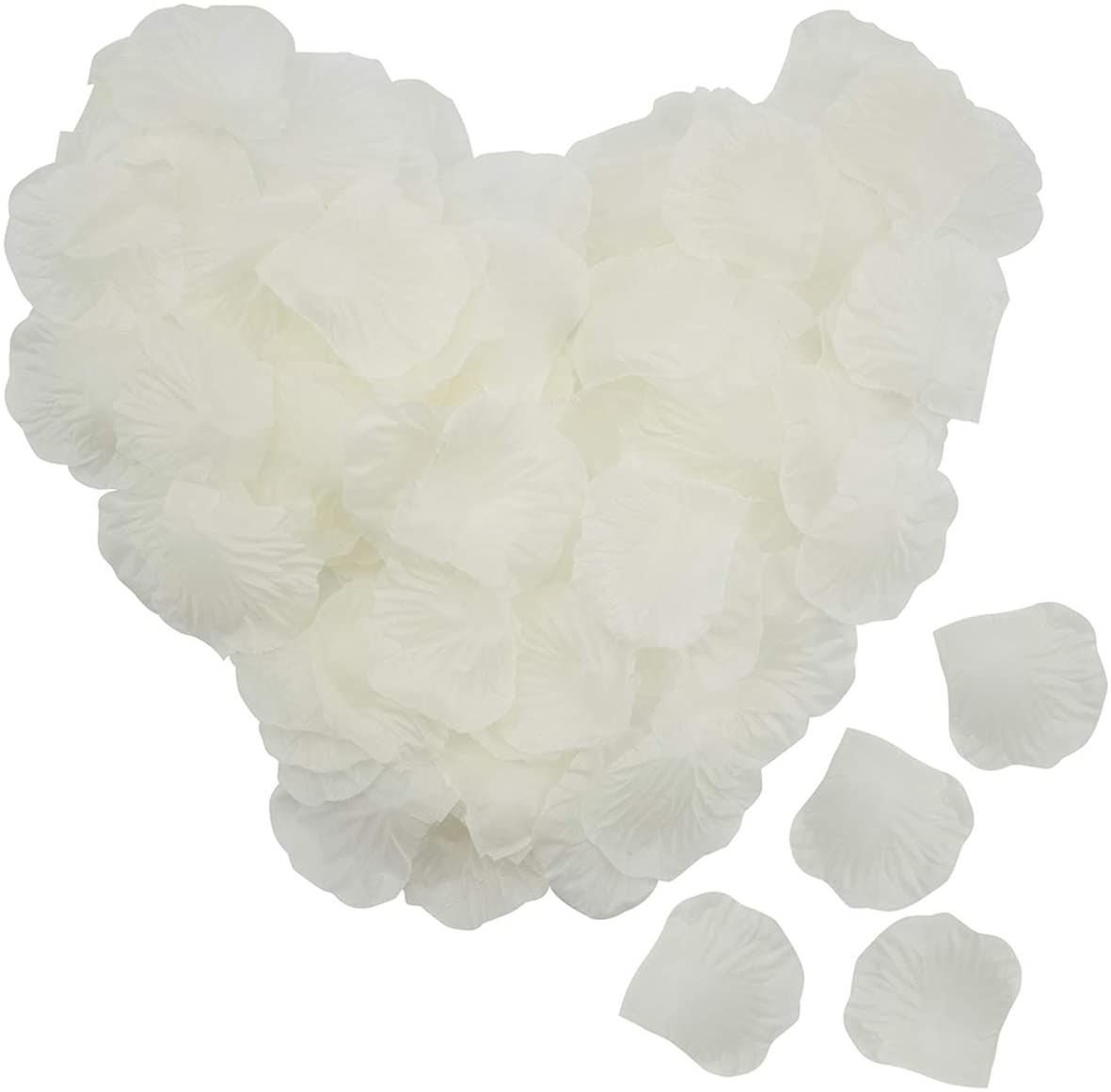 Foraineam 5000 Pieces Silk Rose Petals Artificial Rose Flower Petal for Wedding Party Home Hotel Valentine's Day Decoration, Ivory