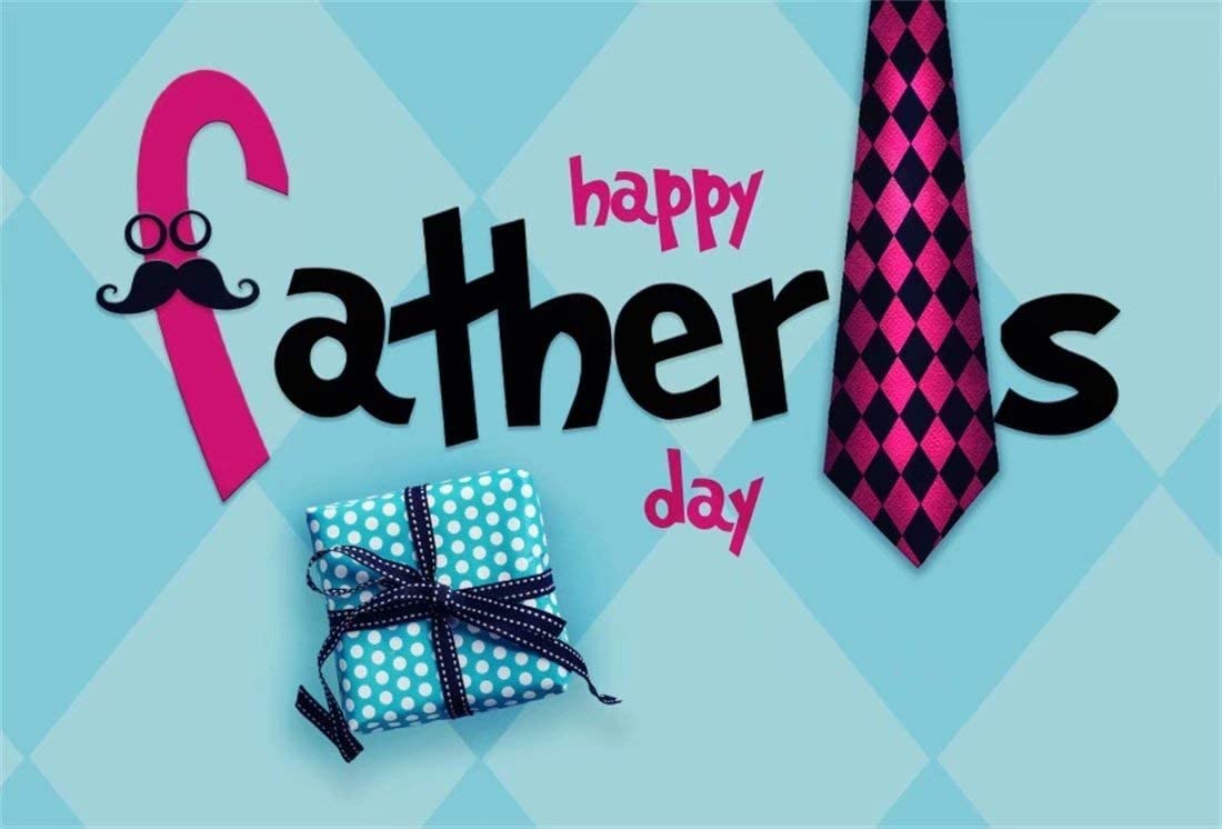 OFILA Polyester Fabric Happy Father's Day Backdrop 6x4ft Father's Day Party Photos Background Dad Father's Day Photo Booth Family Portraits Studio Props