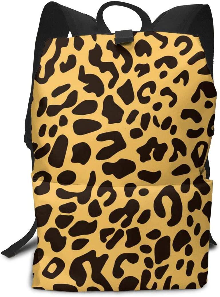 Colorful Leopard Print Daypacks With Adjustable Shoulder Straps Camping Outdoor Backpack Large Capacity College School Bookbag Anti-Theft Multipurpose Rucksacks For Women Men