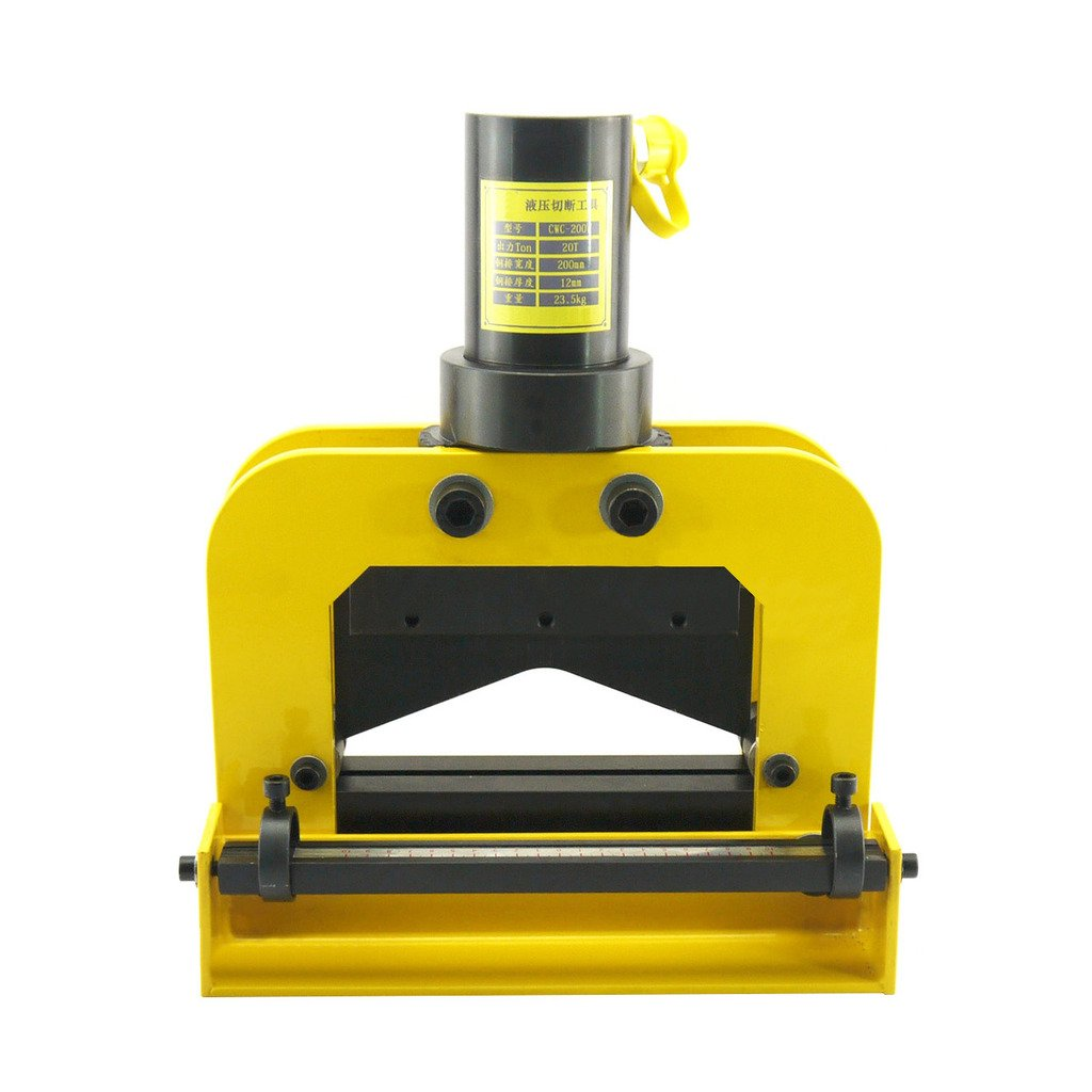 Hydraulic Busbar Cutter 7.87 inches inchesV inches Blade Thickness 12mm Bus Bar Cutting Tool 64 Lbs
