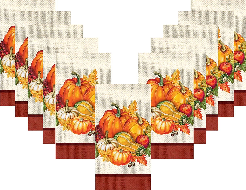 Thanksgiving Fall Paper Dinner Napkin Set - 32 Total Guest Towels - Plentiful Harvest