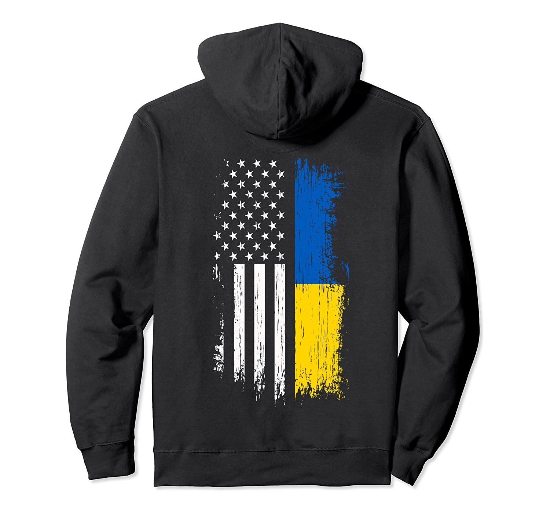 Ukrainian American Flag Hoodie - Pride Ukraine USA Hoodies