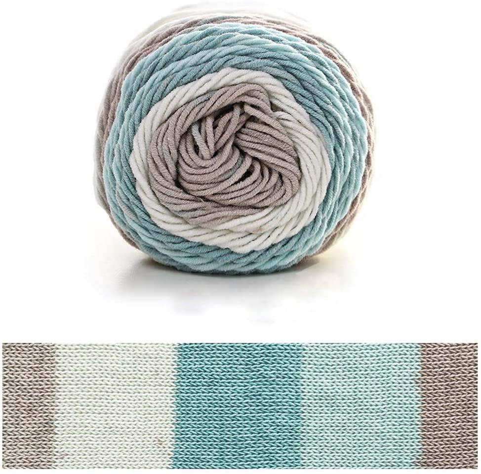 heiyun Warm Comfortable Winter Apparel Sweater Crochet Hand Knitting Carpets Blanket Cotton Yarn Knitting Yarn Thread Wool(6)