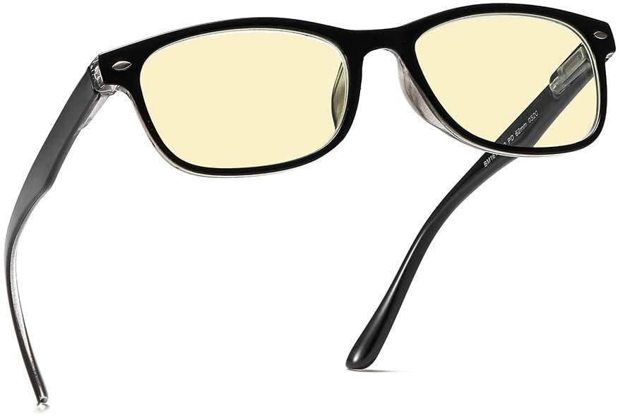 SUERTREE Reading Glasses 90% Blue Light Blocking Eyewear Reading Aids Anti Blue Readers Eyeglasses for Women Men 2.0X