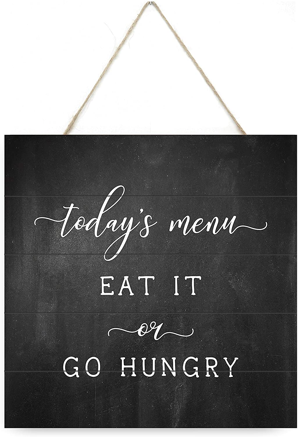 MRC Wood Products Today's Menu Eat It Or Go Hungry Wooden Plank Sign 7.5x7.5
