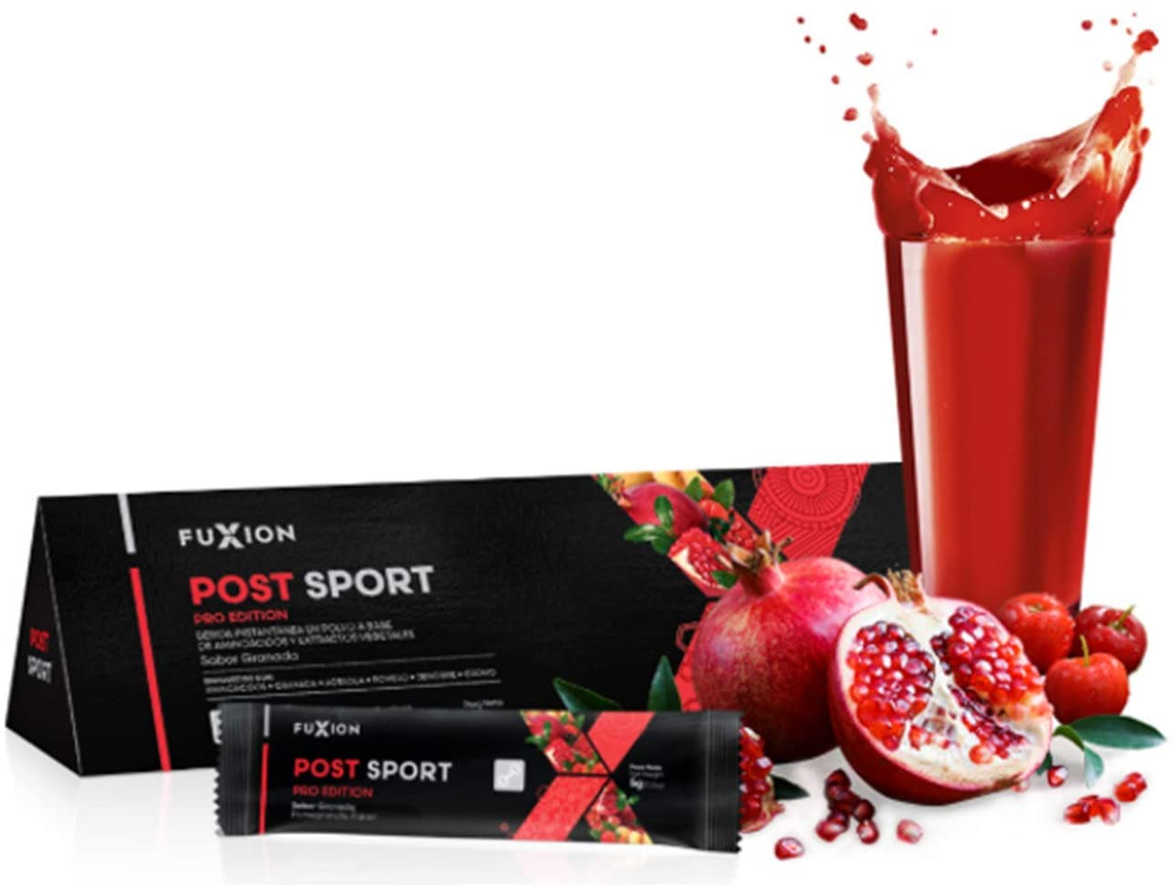 FuXion Post Sport Pro Edition-Nutritious Sport Drink w. BCAAS,Amino Acids,Antioxidants-Promote Body Recovery,Strengthen Muscle Fibers-1 Pouch of 28 Sachets