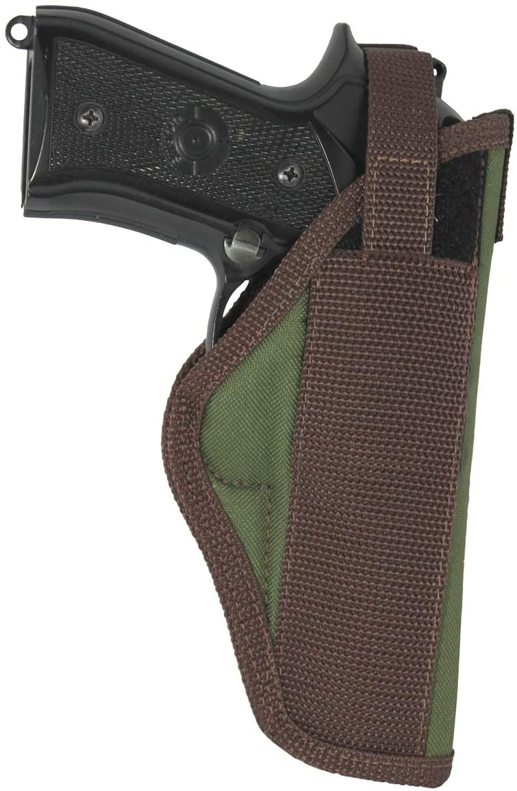 Barsony New Woodland Green Outside The Waistband Holster for Full Size 9mm 40 45 Pistols