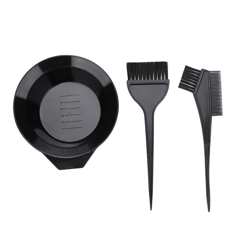 Hair Coloring Set,3pcs Hair Coloring Brush and Bowl Set Professional Hair Salon Dyeing Perming Tools