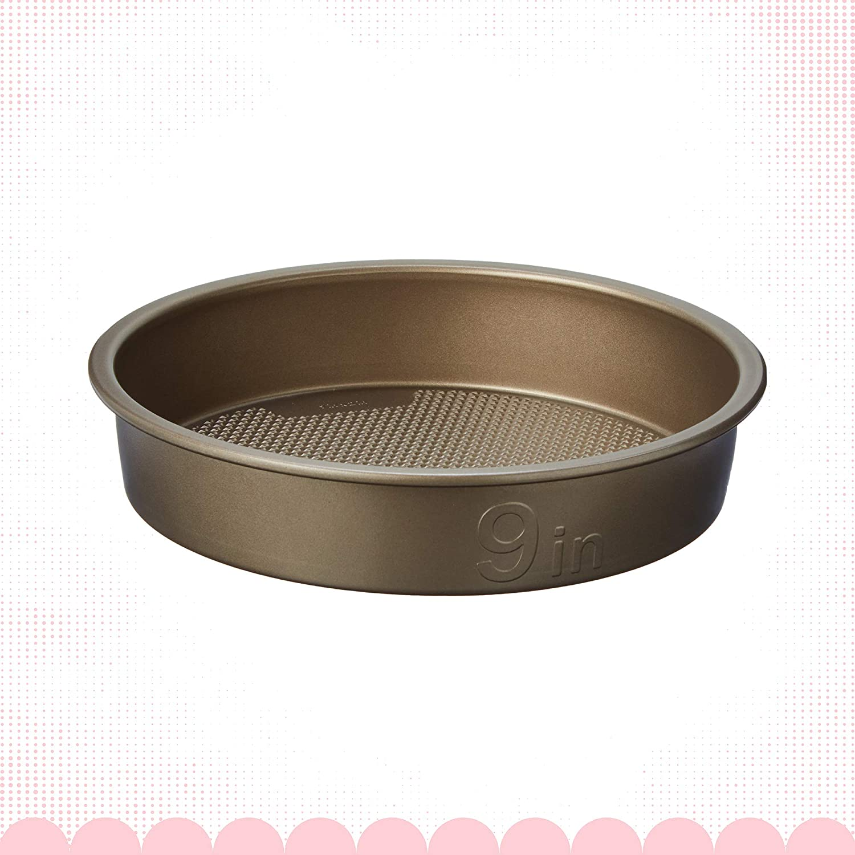 Goodcook Textured Nonstick Round Cake Pan, 9