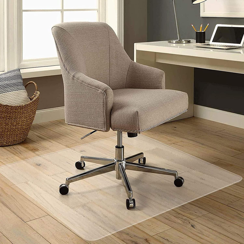 KSHG Office Chair Mat for Floors Upgrade Odorless Desk Plastic Carpet Chair Mat for Carpeted Hardwood Floor 36×60 Inch Thick Heavy Duty Anti-Slip Pads Protector