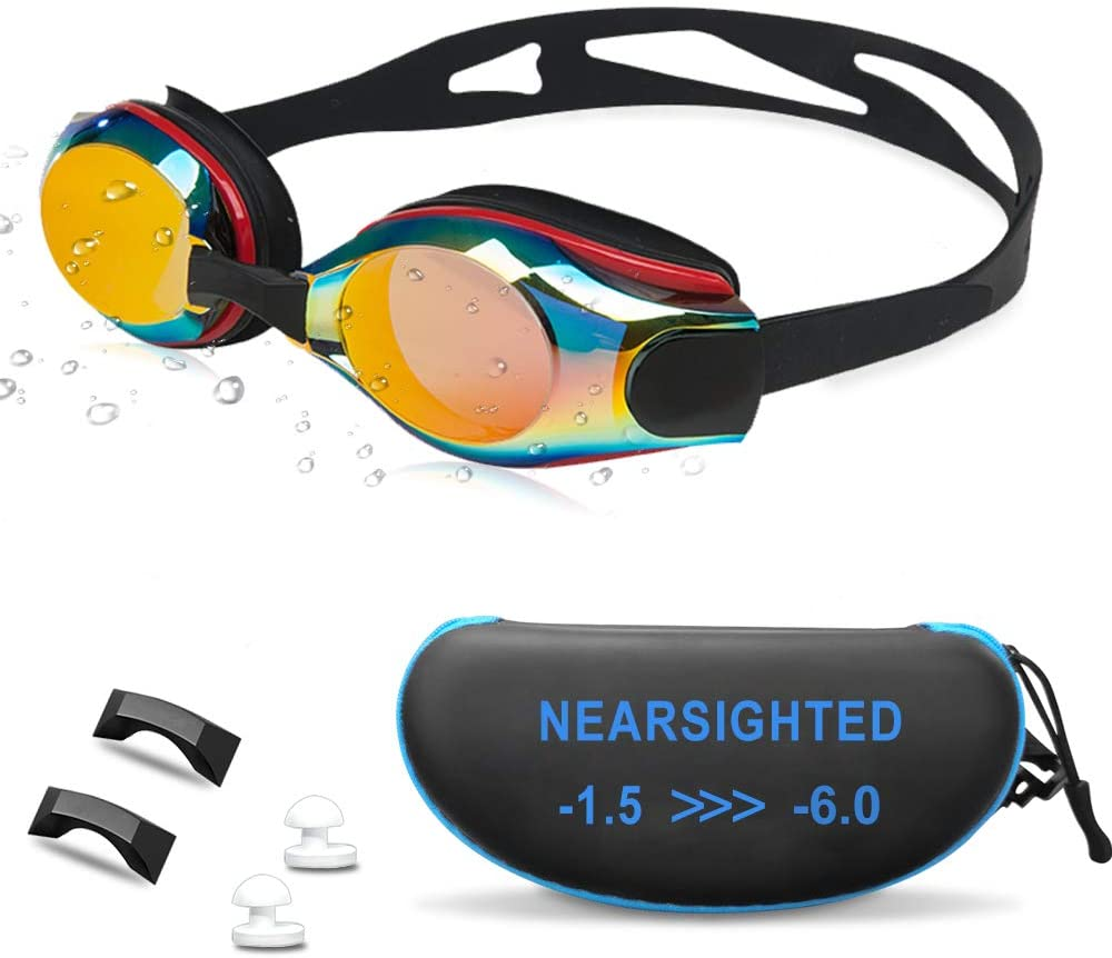 AIKOTOO Nearsighted Swim Goggles, Shortsighted Swimming Goggles