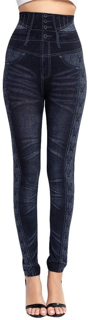 Fineday Trousers Pants, Womens Fashion Leggings Ladies Print Wet High Waist Trouser Pants, Women Trouser Plus Size