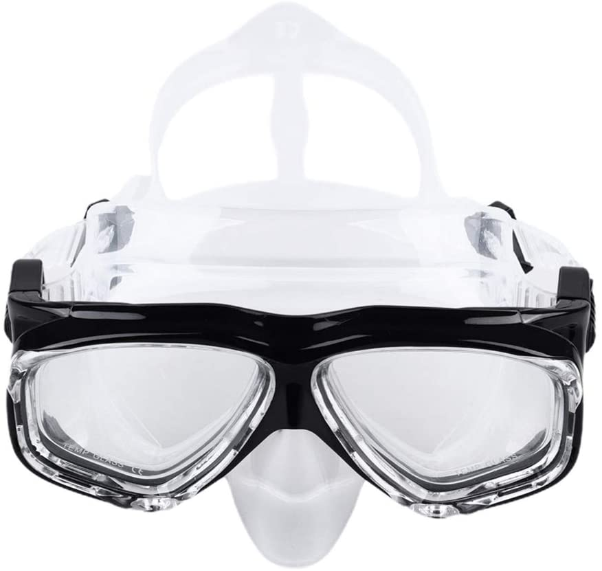 BESPORTBLE Silicone Diving Mask Snorkeling Gear Kids Adult Snorkel Mask Tempered Glass Anti-Leak Anti-Fog Dive Goggle Swimming Glasses for Safe Diving (Rosy)