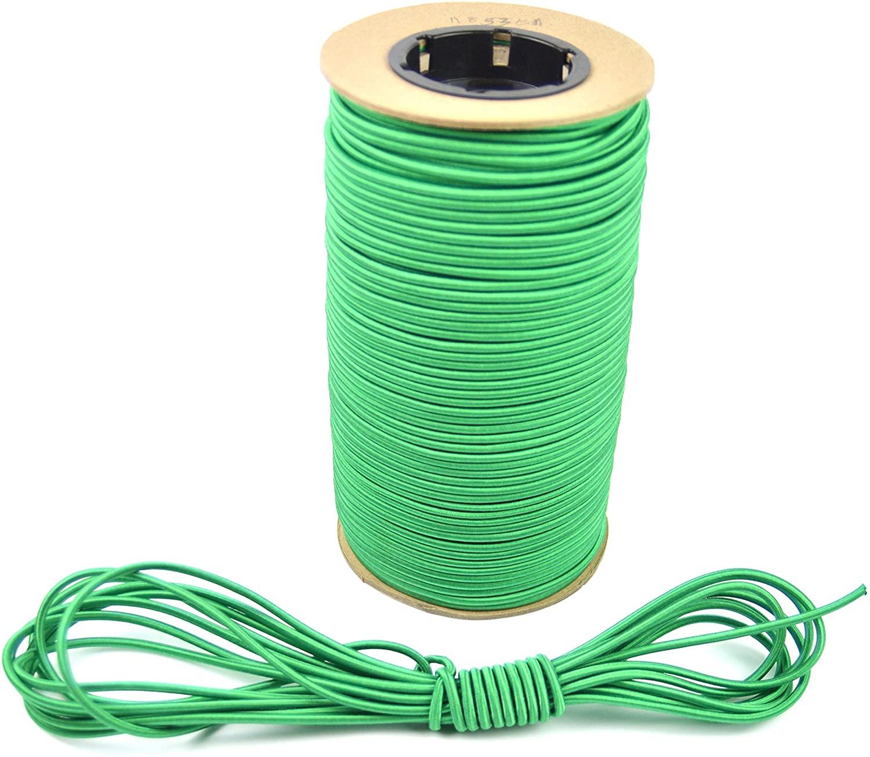 Marine Masters 15ft 1/8 Inch Green Bungee Shock Cord (15 Feet)