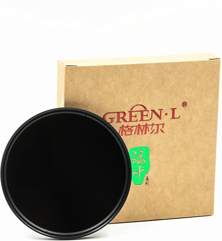 GREEN.L 62 mm ND64 ND Filter Slim Neutral Density Lens Filter Optical Glass 6 Stop