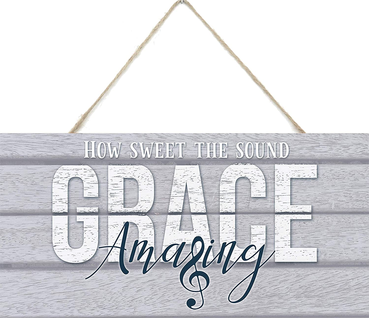 MRC Wood Products Amazing Grace How Sweet The Sound Wooden Plank Sign 5x10