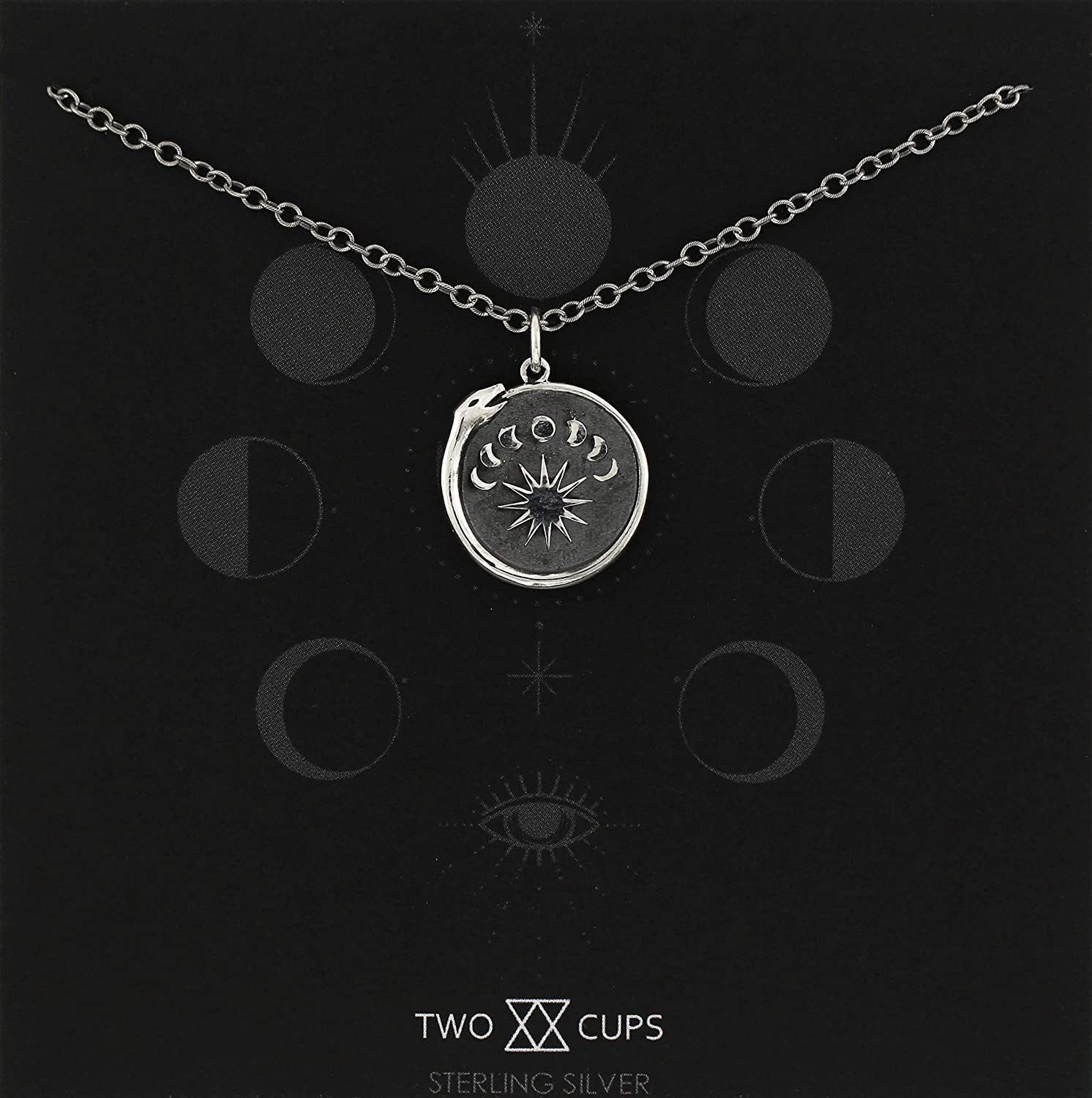 A Charmed Impression Moon Phase Ourosboros Necklace