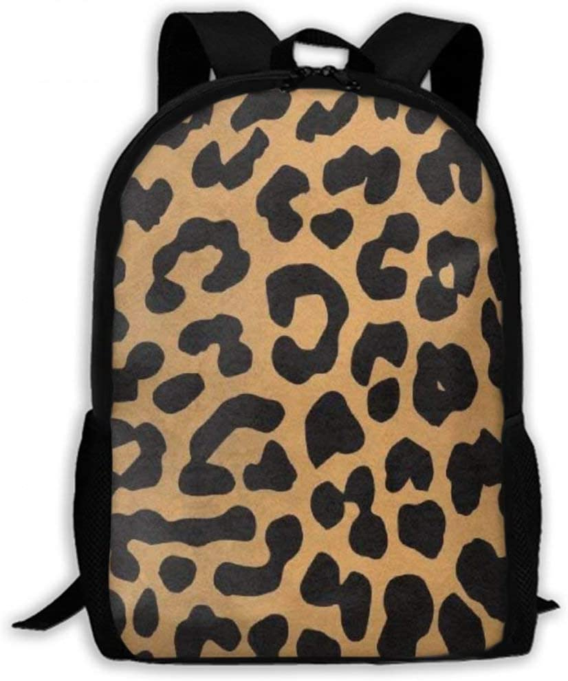 NiYoung Women Men Teens Water Resistant Anti-Theft Business Travel Laptop Backpack College School Student Bookbag Fashion Casual Daypack, Cool Animal Leopard Print Design