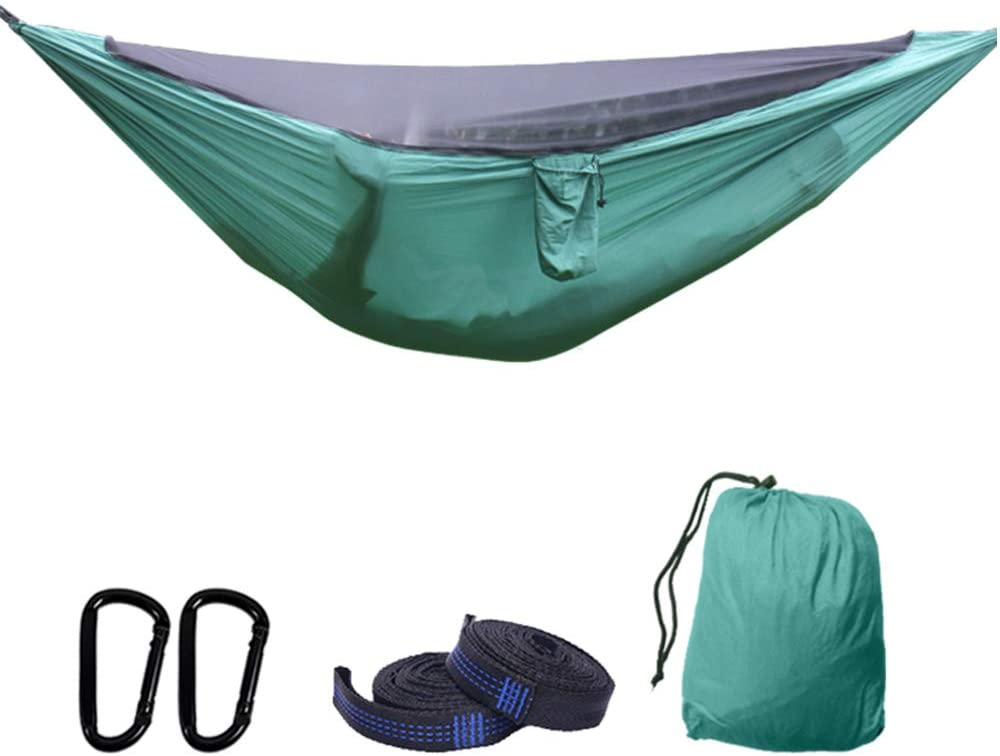 SHUNYUS Double Camping Hammock Lightweight Portable Nylon Hammock Set for Indoor and Outdoor Backpacking Travel Backyard