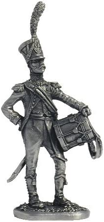 The Drummer of Light Infantry (France) Tin Soldiers Metal Sculpture Miniature Figure Collection 54mm (Scale 1/32) (N51)