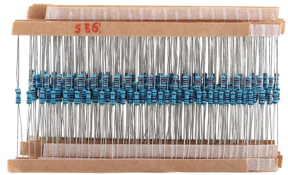 Resistor Kit Assortment,64 Values 1-10M ohm Metal Film Resistors Assortment Components Kit Set 1280pcs