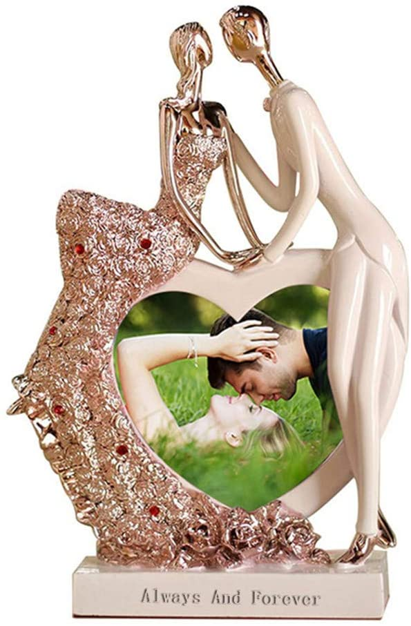 KIKISHOPQ Passionate Lovers Hug Couples Statues Ms. Men's Wedding Gifts Home Living Room Decoration Sculpture(Pink)