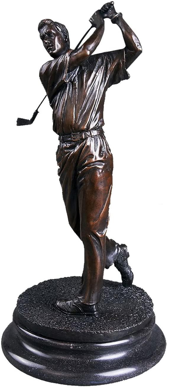 Toperkin Sports Craft Golf Player Bronze Statue Sculpture