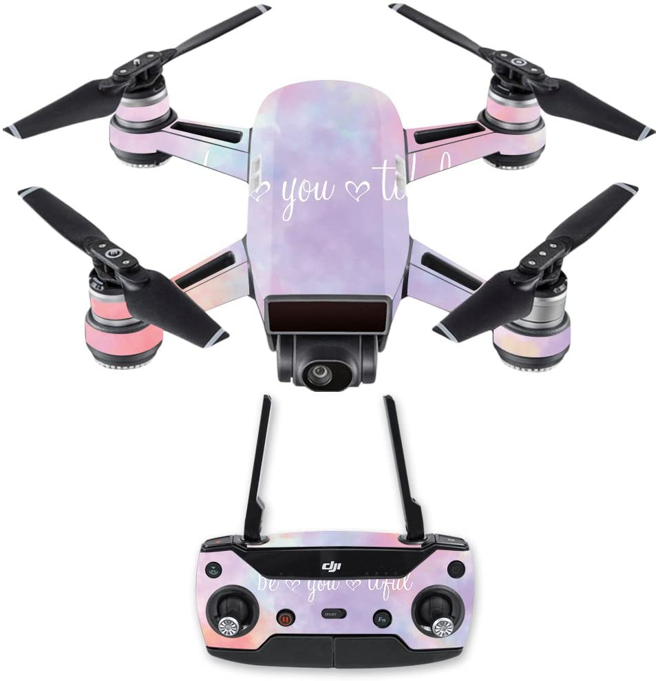 MightySkins Skin Compatible with DJI Spark Mini Drone Combo - BeYouTiful   Protective, Durable, and Unique Vinyl Decal wrap Cover   Easy to Apply, Remove, and Change Styles   Made in The USA