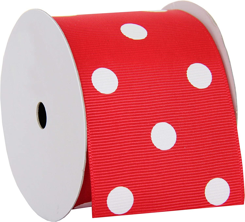 Grosgrain Dots Ribbon by Threadart 2 1/4