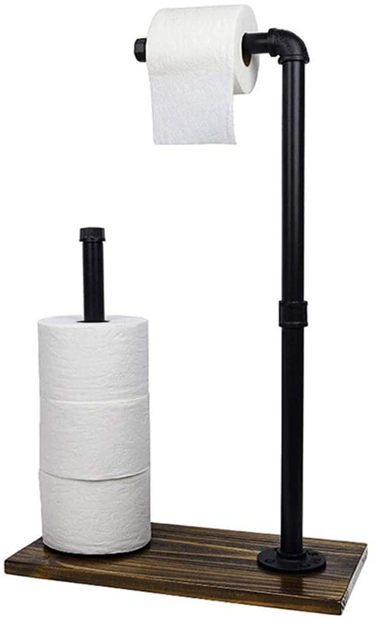 XQK Toilet Roll Holder Free Standing Toilet Paper Roll Storage and Dispenser for Reserve Toilet Tissue for Bathroom Store Organization?Not Including Paper?
