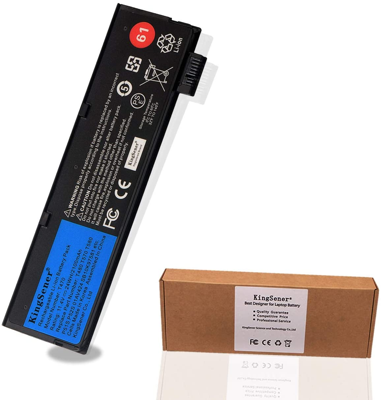 KingSener New Laptop Battery for Lenovo ThinkPad T470 T480 T570 T580 P51S P52S 01AV427 01AV423 SB10K97580 11.4V 2100mAh 24WH