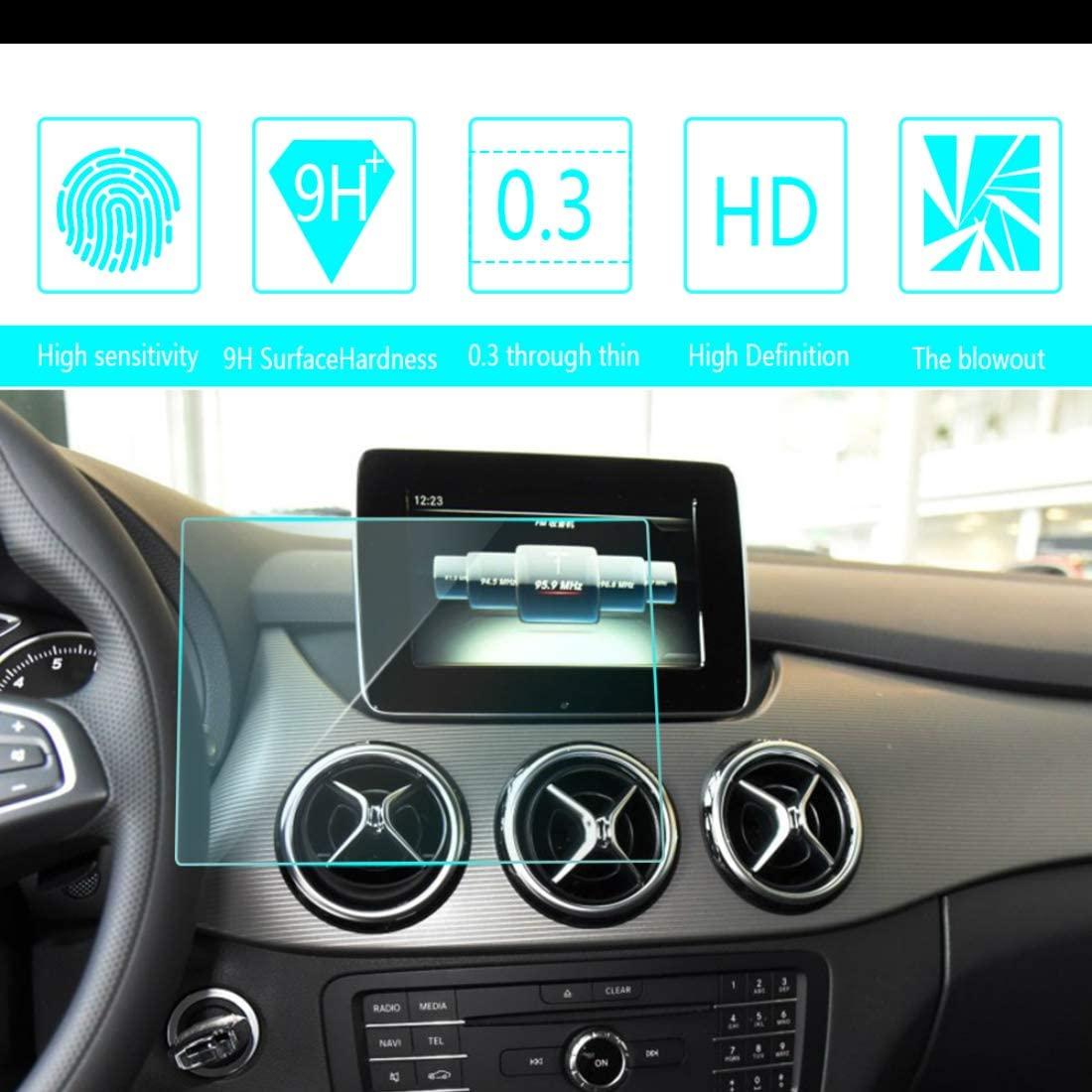 for Mercedes Benz B180 2016 7-Inch 150x90mm Car Screen Tempered Film Navigation Screen Protector HD Clear 9H Hardness Anti-Fingerprint Anti-Scratch