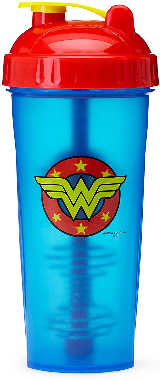 Performa Perfect Shaker - Wonder Woman Shaker Cup, Best Leak Free Bottle With Actionrod Mixing Technology For Your Sports & Fitness Needs! Dishwasher and Shatter Proof