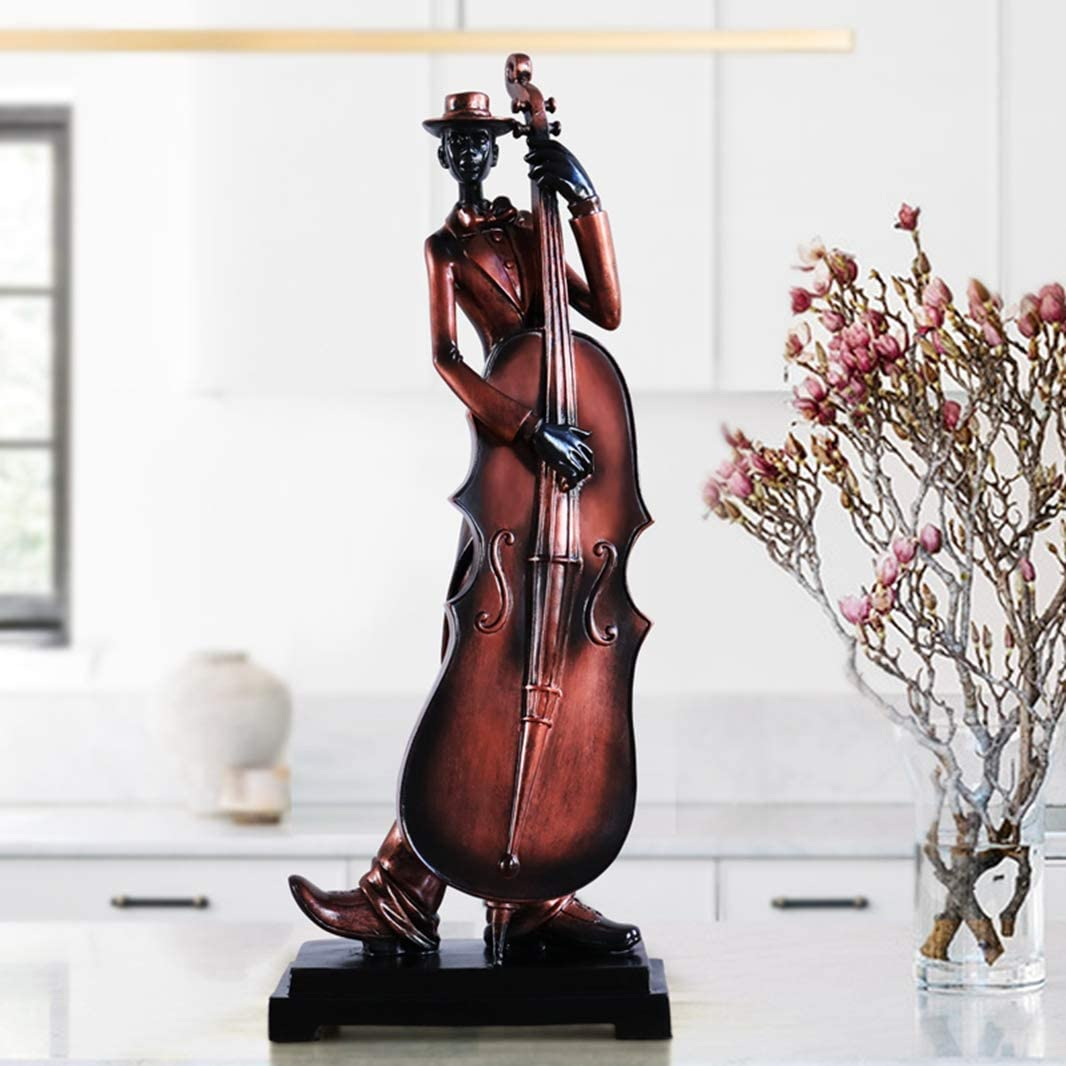 GEPIJPGEKH Resin Handmade Craft Jazz Musician Statue Music Band Sculpture for Home Decor Creative Character Figurines Ornament