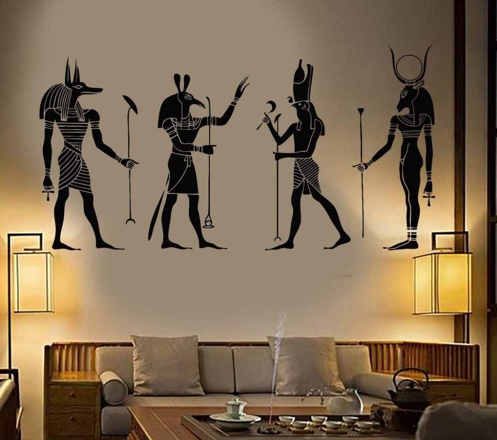 dsajgker Large Wall Decoration Egyptian Room Sticker Vinyl Art Removable Modern Decoration80X42Cm