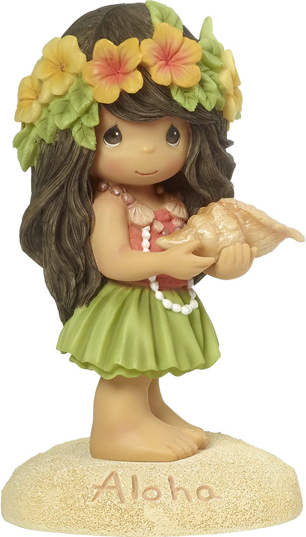 Precious Moments Aloha Hawaiian Girl Resin Home Decor Collectible Figurine 173445