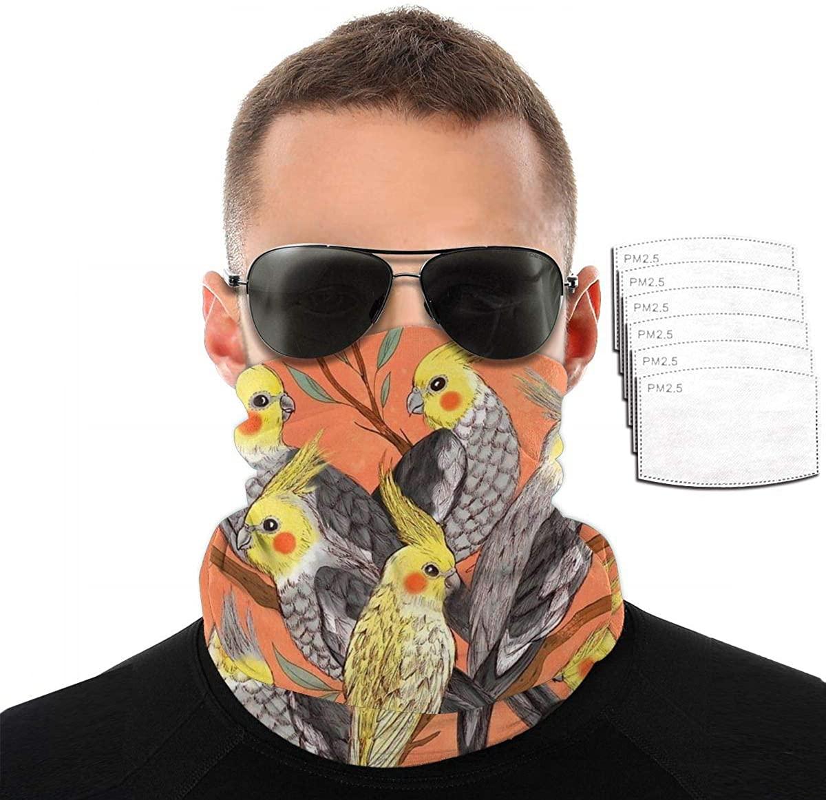Men Women Neck Gaiter 3D Scarf Sun UV Dust Wind Proof Bandanas Balaclava