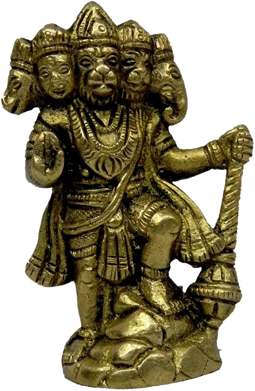 BHARAT HAAT Panchmukhi Hanuman Standing Statue