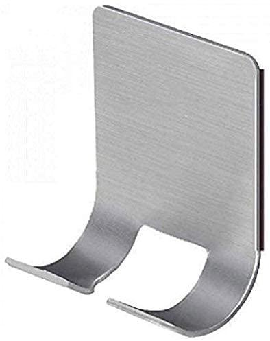 Eastbuy Adhesive Hooks - 2 Pack Self Adhesive Stainless Steel Heavy Duty Utility Storage Hook,Bathroom Kitchen Organizer for Plug Robe Towel Loofah Bathrobe Coat,Command