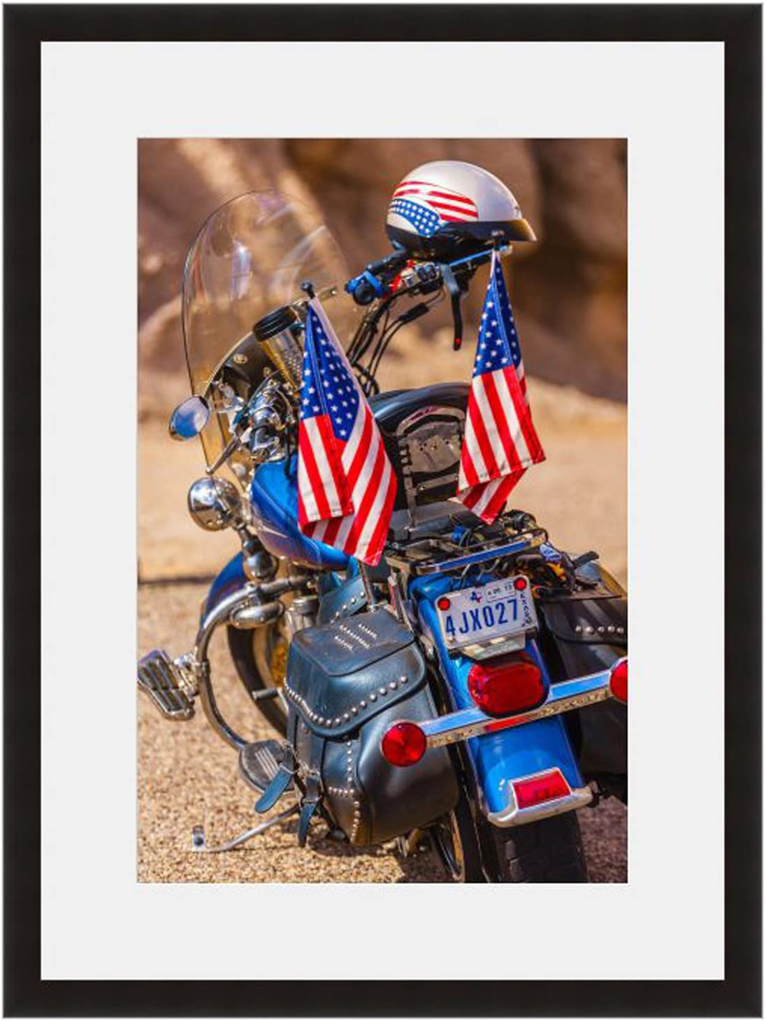 eFrame Fine Art | American Motorcycle Draped in American Flag Texas by Blaine Harrington 12
