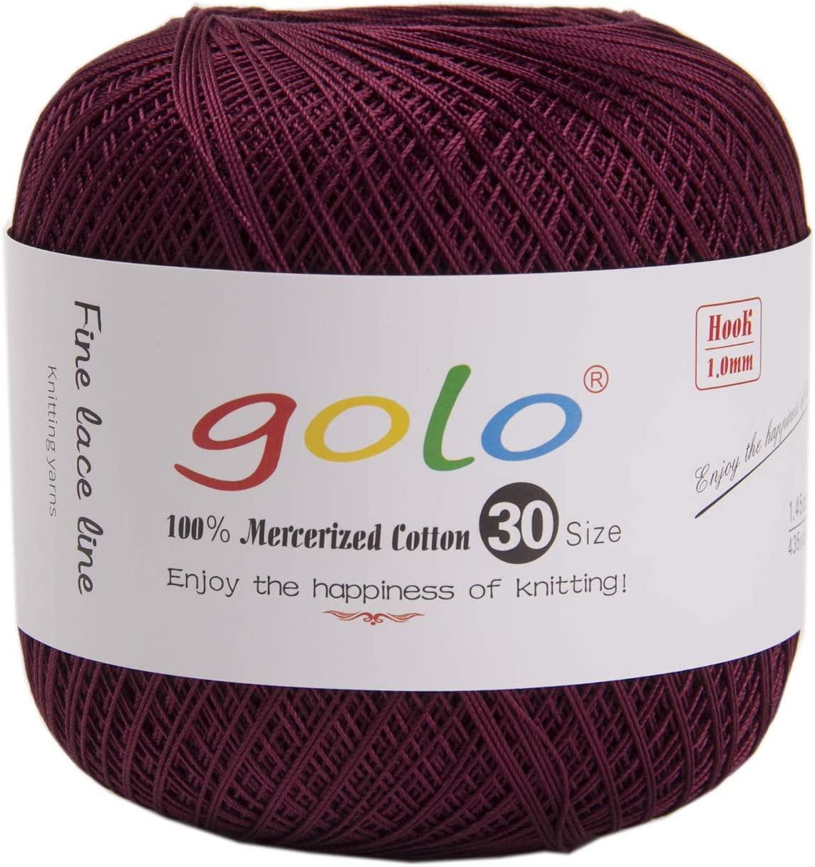 golo Knitting Yarns for Hand Work Crochet Yarn Crimson