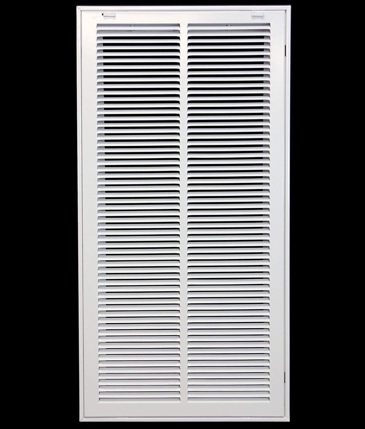 14 X 28 Steel Return Air Filter Grille for 1 Filter - Removable Face/Door - HVAC Duct Cover - Flat Stamped Face -White [Outer Dimensions: 15.75w X 29.75h]